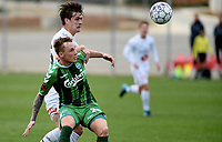 Fotball , 31. januar 2018 , privatkamp , Odd - Odense<br /> Sigurd Hauso Haugen  ,Odd<br /> Jacob Laursen , Odense