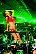 Podium dancer, Nightclub Belgrade, Serbia 2009