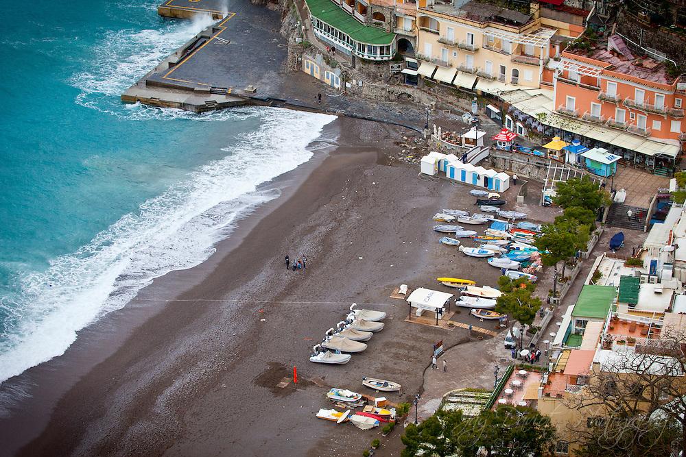 The beautiful town of Positano along the Amalfi Coast.