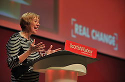 Shadow Scottish Secretary and interim Deputy Leader Lesley Laird delivers her keynote speech at the Scottish Labour conference at the Caird Hall in Dundee.<br /> <br /> &copy; Dave Johnston / EEm