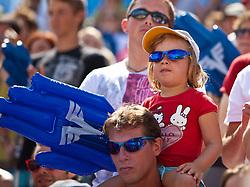 05.08.2011, Klagenfurt, Strandbad, AUT, Beachvolleyball World Tour Grand Slam 2011, im Bild junder Fan, EXPA Pictures © 2011, PhotoCredit EXPA Gert Steinthaler
