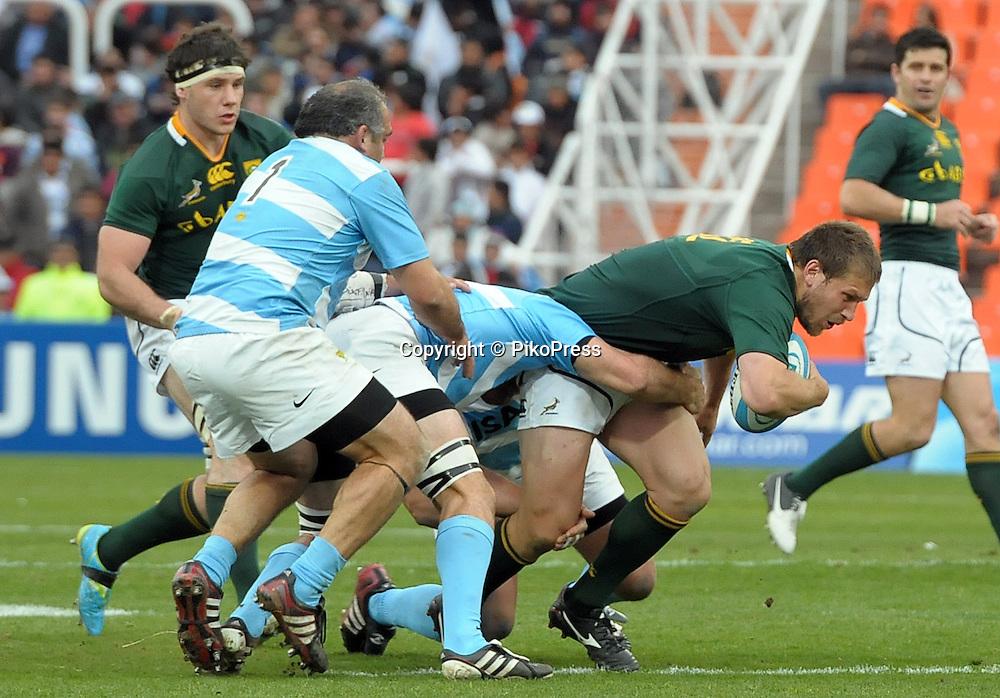 RUGBY CHAMPIONSHIP 2012 - <br /> LOS PUMAS (Argentina) 16 Vs. South Africa (16)<br /> Estadio Ciudad de Mendoza / Mendoza - Argentina - August 25, 2012<br /> &copy; PikoPress