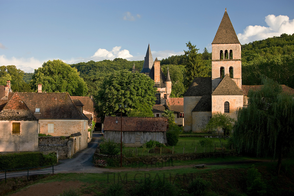 Picturesque village of St Leon sur Vezere in the Dordogne, France