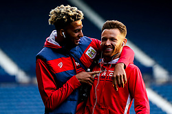 Lloyd Kelly of Bristol City and Matty Taylor of Bristol City arrive at the Hawthorns for the Sky Bet Championship fixture against West Bromwich Albion - Mandatory by-line: Robbie Stephenson/JMP - 18/09/2018 - FOOTBALL - The Hawthorns - West Bromwich, England - West Bromwich Albion v Bristol City - Sky Bet Championship