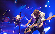 New Zealand rock band SIX60 perform live at the HMV Forum, Kentish Town, London, Great Britain <br /> 10th May 2012 <br /> <br /> The band are:<br /> <br /> Eli Paewai (drums)<br /> Chris Mac (bass, synths)<br /> Ji Fraser (lead guitar)<br /> Marlon Gerbes (synths, samples)<br /> Matiu Walters (vocals, guitar)<br /> Jordan Whitlock (backing vocals)<br /> <br /> Six60 is a New Zealand rock band formed in 2006. Their self-titled debut album was released on the 10th October 2011 on their own label Massive Entertainment. The album debuted at No.1 in the New Zealand charts and was certified Gold in its first week. Their first two singles &quot;Rise Up 2.0&quot; and &quot;Don't Forget Your Roots&quot; reached number one and number two respectively on the RIANZ singles chart and both were certified Platinum.<br /> <br /> Photograph by Elliott Franks