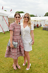 Left to right, HEIDA REED and LADY KITTY SPENCER at the Cartier Queen's Cup Final 2016 held at Guards Polo Club, Smiths Lawn, Windsor Great Park, Egham, Surrey on 11th June 2016.
