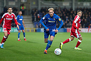 AFC Wimbledon midfielder Mitchell (Mitch) Pinnock (11) chasing a through ball during the EFL Sky Bet League 1 match between AFC Wimbledon and Gillingham at the Cherry Red Records Stadium, Kingston, England on 23 November 2019.