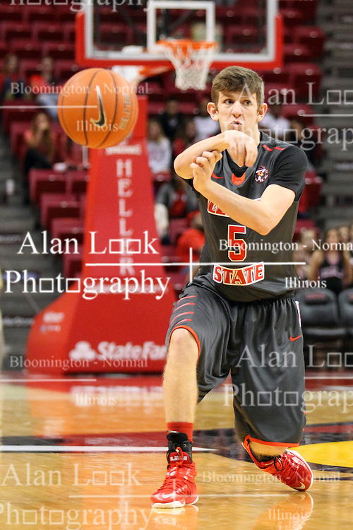 08 November 2015: Matt Hein(5). Illinois State Redbirds host the Southern Indiana Screaming Eagles and beat them 88-81 in an exhibition game at Redbird Arena in Normal Illinois (Photo by Alan Look)