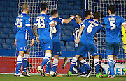 Brighton striker Tomer Hemed celebrates after putting Brighton 2-0 up during the Sky Bet Championship match between Brighton and Hove Albion and Brentford at the American Express Community Stadium, Brighton and Hove, England on 5 February 2016. Photo by Bennett Dean.