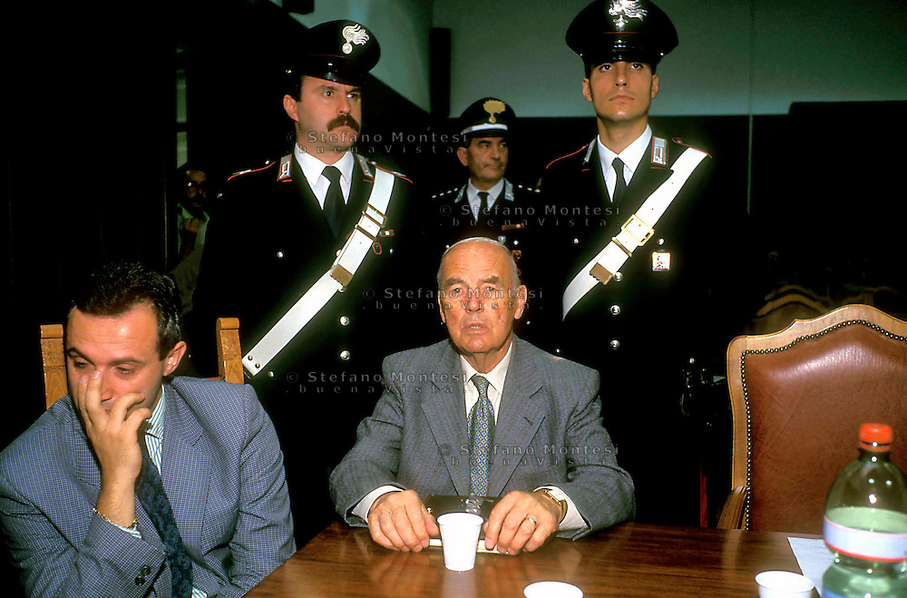 Rome  Military Court    1996..Trial to SS Captain Erich Priebke  for the massacre of 335 men and boys at the Ardeatine Caves near Rome during World War II..
