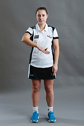 Umpire Kate Mann signalling centre postitioned incorrectly