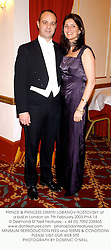 PRINCE & PRINCESS DIMITRI LOBANOV-ROSTOVSKY at a ball in London on 7th February 2003.	PHA 14
