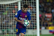 14 Phillip Couthino from Brasil of FC Barcelona during the Spanish championship La Liga football match between FC Barcelona and Real Madrid on May 6, 2018 at Camp Nou stadium in Barcelona, Spain - Photo Xavier Bonilla / Spain ProSportsImages / DPPI / ProSportsImages / DPPI
