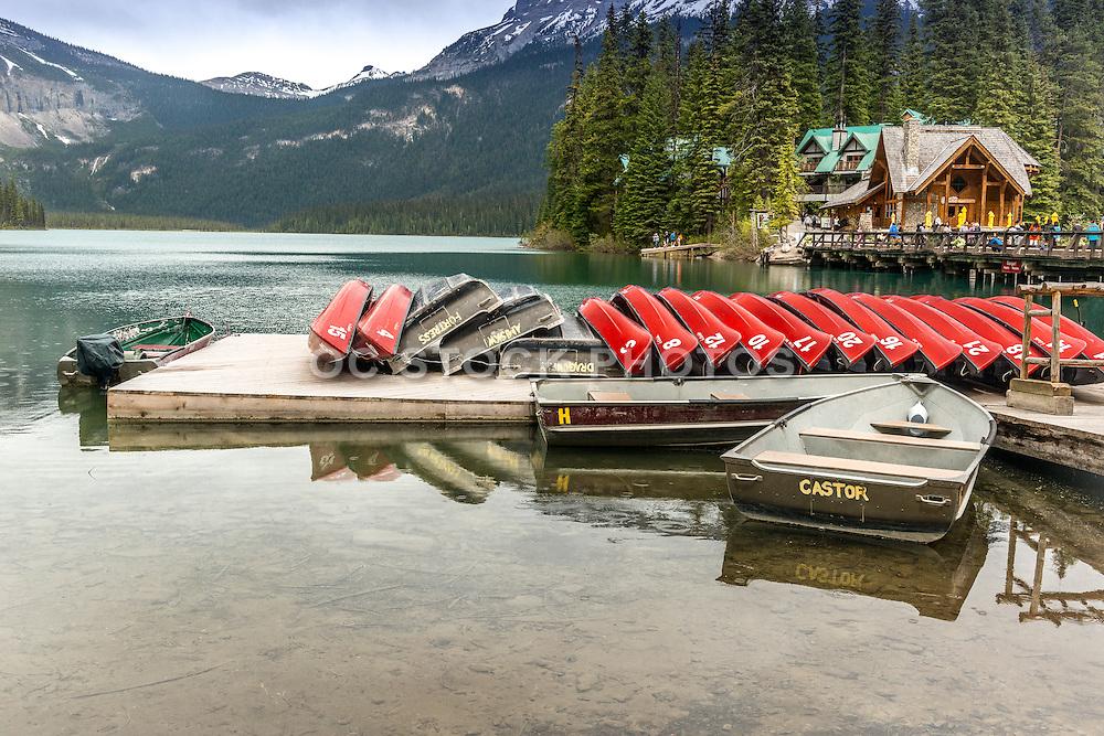 Emerald Lake at Yoho National Park Alberta Canada