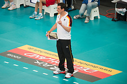 06.09.2013, Gery Weber Stadion, Halle, GER, Volleyball EM 2013, Deutschland vs Spanien, im Bild,, Giovanni Guidetti (Trainer/ Bundestrainer GER) // during the volleyball european championchip match between Germany and Spain at the Gery Weber Stadion in Halle, Germany on 2013/09/06. EXPA Pictures © 2013, PhotoCredit: EXPA/ Eibner/ Kurth<br /> <br /> ***** ATTENTION - OUT OF GER *****