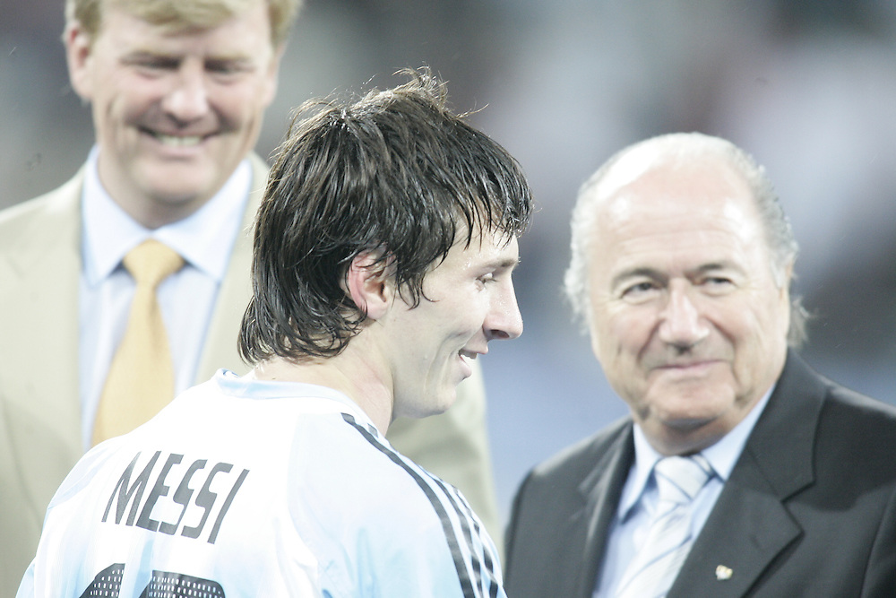 2005 FIFA World Youth Championship Final Nigeria-Argentina with Mikel, Messi,Sergio Agüero, Lionel Messi, Sepp Blatter