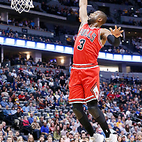22 November 2016: Chicago Bulls guard Dwyane Wade (3) goes for the dunk during the Denver Nuggets 110-107 victory over the Chicago Bulls, at the Pepsi Center, Denver, Colorado, USA.