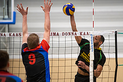 13-04-2019 NED: Prima Donna Kaas Huizen - Spaarnestad , Huizen<br /> Huizen win the match 3-2 and is the champion of the second division C / Derwin Colina #9 of PDK Huizen