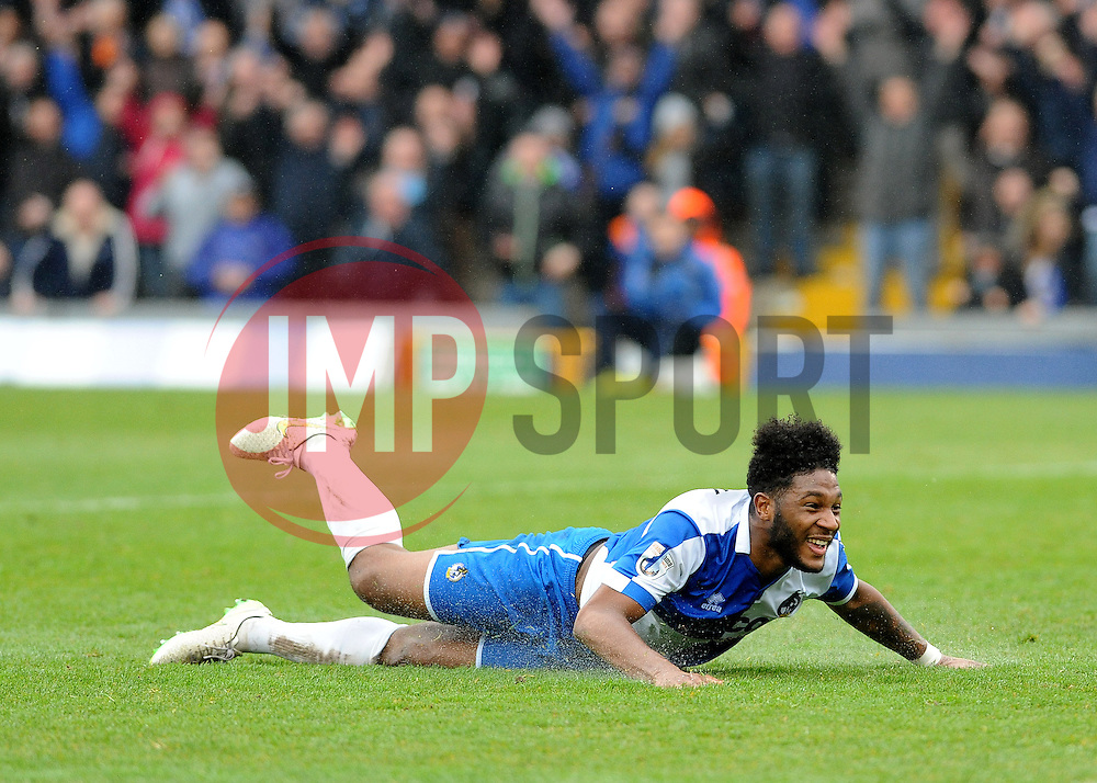 Bristol Rovers' Ellis Harrison celebrates his goal - Photo mandatory by-line: Neil Brookman/JMP - Mobile: 07966 386802 - 03/04/2015 - SPORT - Football - Bristol - Memorial Stadium - Bristol Rovers v Chester - Vanarama Football Conference