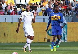 Sifiso Hlanti and Sibusiso Masina in the MTN8 semi-final first leg match between Cape Town City and Bidvest Wits at the Cape Town Stadium on Sunday 27 August 2017.