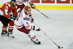 Leszek Laszkiewicz of Poland vs Daniel Koger of Hungary at IIHF Ice-hockey World Championships Division I Group B match between National teams of Hungary and Poland, on April 18, 2010, in Tivoli hall, Ljubljana, Slovenia. Hungary defeated Poland 6-0. (Photo by Matic Klansek Velej / Sportida)