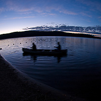 Night Landscape, fishing