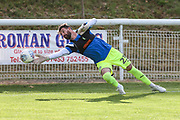 Forest Green Rovers goalkeeper Sam Russell warming up during the Pre-Season Friendly match between Shortwood United and Forest Green Rovers at Meadowbank Ground, Nailsworth, United Kingdom on 14 July 2017. Photo by Shane Healey.