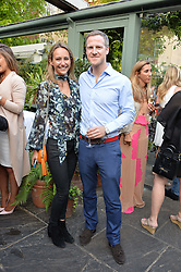 LAVINIA BRENNAN and JAMIE RICHARDS at a party to celebrate 'A Year In The Garden' celebrating the first year of The Ivy Chelsea Garden, 197 King's Road, London on 16th May 2016.