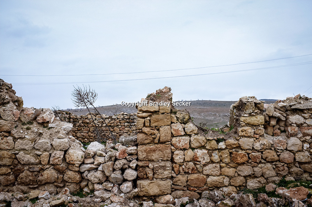 TEPECIK, TURKEY. FEBRUARY 20. The destroyed remains of the village, after the Turkish government raided the village in the 1990s, at the height of the war between the PKK (Kurdish fighters) and the Turkish state.