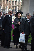 CHRISTOPHER BALFOUR; THE COUNTESS OF LICHFIELD Service of thanksgiving for  Lord Snowdon, St. Margaret's Westminster. London. 7 April 2017