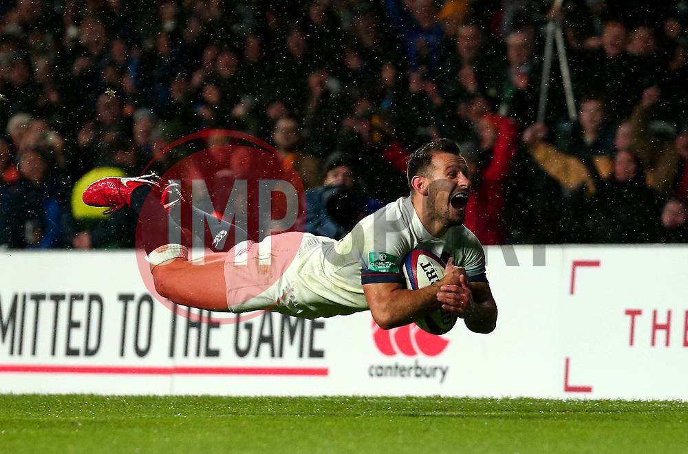 Danny Care of England scores a try - Mandatory by-line: Robbie Stephenson/JMP - 18/11/2017 - RUGBY - Twickenham Stadium - London, England - England v Australia - Old Mutual Wealth Series
