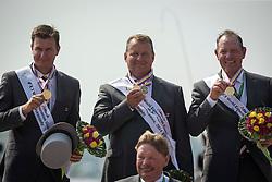 Team NED, IJsbrand Chardon, Koos De Ronde, Theo Timmerman - Driving Cones - Alltech FEI World Equestrian Games™ 2014 - Normandy, France.<br /> © Hippo Foto Team - Dirk Caremans<br /> 07/09/14