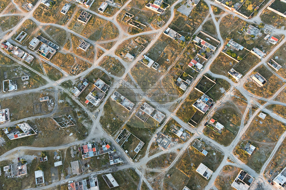 Homes and sprawling developments outside the colonial city of San Miguel de Allende, Mexico.