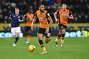 Hull City midfielder Ahmed Elmohamady move forward through the field  during the Sky Bet Championship match between Hull City and Bolton Wanderers at the KC Stadium, Kingston upon Hull, England on 12 December 2015. Photo by Ian Lyall.