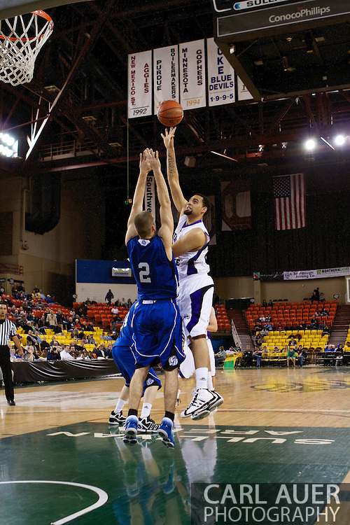 November 27th, 2010:  Anchorage, Alaska - Weber State freshman forward Byron Fulton (25) attempts a hook shot in the Weber State 82-81 victory over the Drake Bulldogs in the third place game of the Great Alaska Shootout.