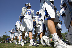 06 May 2007: Duke Blue Devils attackman attackman Josh Coveleski (19) and midfielder Breck Archer (38) in a 19-6 victory over the Air Force Falcons at Koskinen Stadium in Durham, NC.