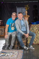 Andy Gray and Grant Stott at the Gilded Balloon Rose Theatre, rehearse for their new play The Junkies.