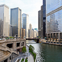 Chicago River skyline downtown building architecture