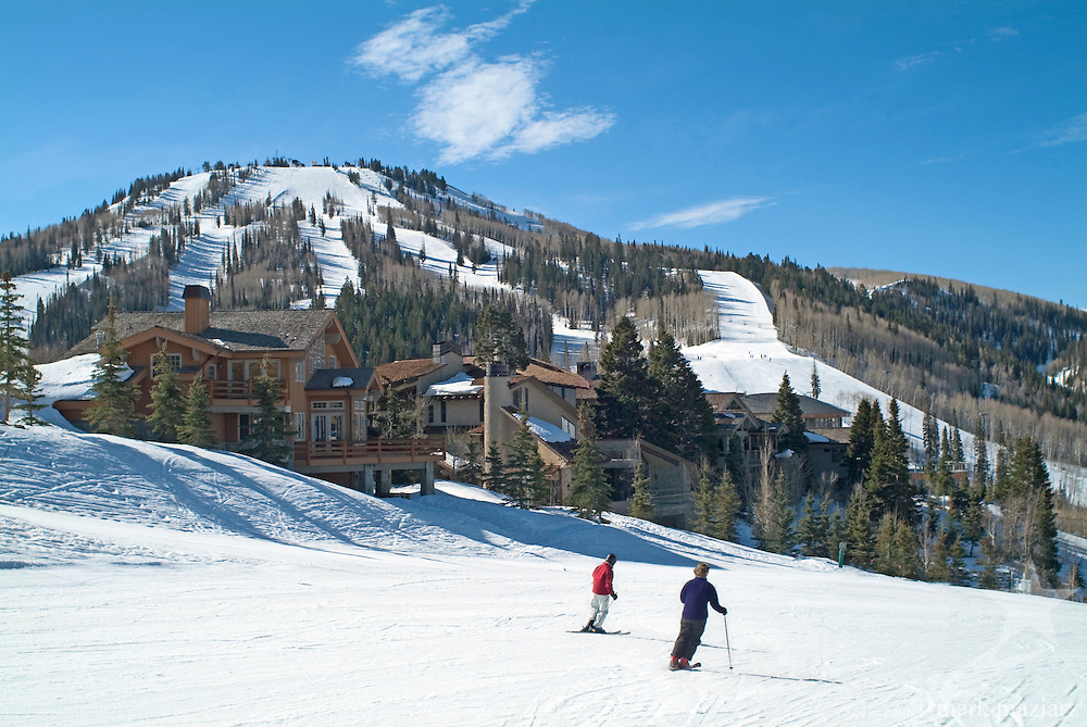 Deer Valley Resort scene with private homes