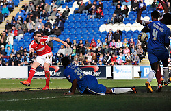 Bristol City's Martin Paterson scores a goal. - Photo mandatory by-line: Dougie Allward/JMP - Mobile: 07966 386802 22/03/2014 - SPORT - FOOTBALL - Colchester - Colchester Community Stadium - Colchester United v Bristol City - Sky Bet League One