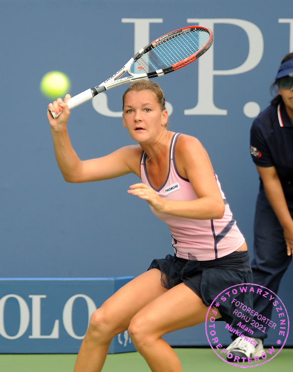 US  Open Tennis 2008 Flushing Meadows New York 30/08/2008.Agnieszka Radwanska (POL) third  round match.Photo Roger Parker  Fotosports Interntional
