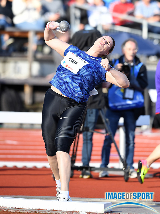 Paulina Guba (POL) places ninth in the women's shot put at 58-4½ (17.79m) during the 54th  Bislett Games in an IAAF Diamond League meet in Oslo, Norway, Thursday, June 13, 2019. (Jiro Mochizuki/Image of Sport)