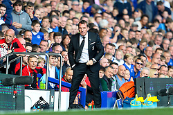 Liverpool Manager, Brendan Rodgers during his final match in charge - Mandatory byline: Matt McNulty/JMP - 07966 386802 - 04/10/2015 - FOOTBALL - Goodison Park - Liverpool, England - Everton  v Liverpool - Barclays Premier League