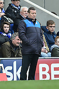 Danny Wilson manager of Chesterfield FC  during the Sky Bet League 1 match between Chesterfield and Fleetwood Town at the b2net stadium, Chesterfield, England on 26 March 2016. Photo by Ian Lyall.====