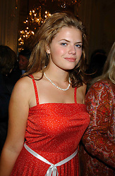 STELLA POWELL-JONES daughter of Flora Fraser at a party to celebrate the publication of 'Princesses' the six daughters of George 111 by Flora Fraser held at the Saville Club, Brook Street, London W1 on 14th September 2004.<br /><br />NON EXCLUSIVE - WORLD RIGHTS