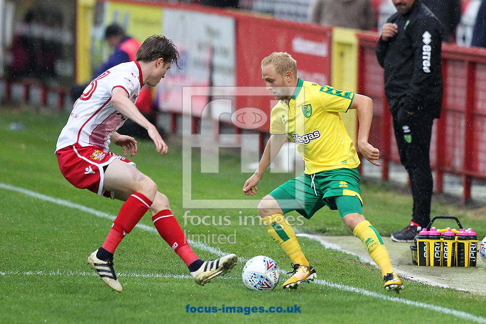 James Ferry of Stevenage and Alex Pritchard of Norwich in action during the Pre-season Friendly match at the Lamex Stadium, Stevenage<br /> Picture by Paul Chesterton/Focus Images Ltd +44 7904 640267<br /> 11/07/2017