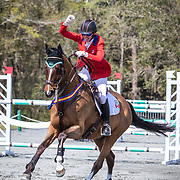 Selena O'Hanlon (CAN) and Foxwood High, winners of the CCI4*-S at the Red Hills International Horse Trials in Tallahassee, Florida.