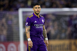 May 13, 2018 - Orlando, FL, U.S. - ORLANDO, FL - MAY 13: Orlando City forward Dom Dwyer (14) during the soccer match between the Orlando City Lions and Atlanta United on May 13, 2018 at Orlando City Stadium in Orlando, FL. (Photo by Joe Petro/Icon Sportswire) (Credit Image: © Joe Petro/Icon SMI via ZUMA Press)