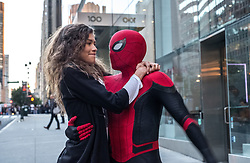RELEASE DATE: July 5, 2019 TITLE: Spider-Man: Far From Home STUDIO: Sony Pictures DIRECTOR: Jon Watts PLOT: Peter Parker and his friends go on a European vacation, where Peter finds himself agreeing to help Nick Fury uncover the mystery of several elemental creature attacks, creating havoc across the continent. STARRING: ZENDAYA as Michelle Jones, TOM HOLLAND as Peter Parker / Spider-Man. (Credit Image: © Sony Pictures/Entertainment Pictures/ZUMAPRESS.com)