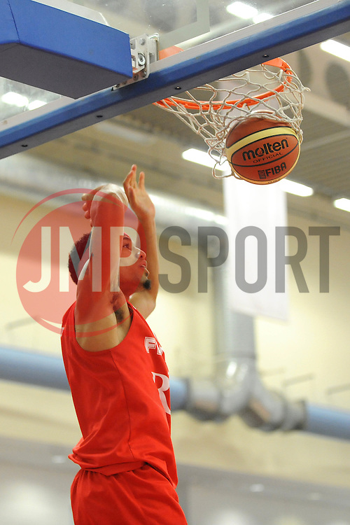 Bristol Flyers' Greg Streete scores a basket - Photo mandatory by-line: Dougie Allward/JMP - Mobile: 07966 386802 - 18/10/2014 - SPORT - Basketball - Bristol - SGS Wise Campus - Bristol Flyers v Durham Wildcats - British Basketball League